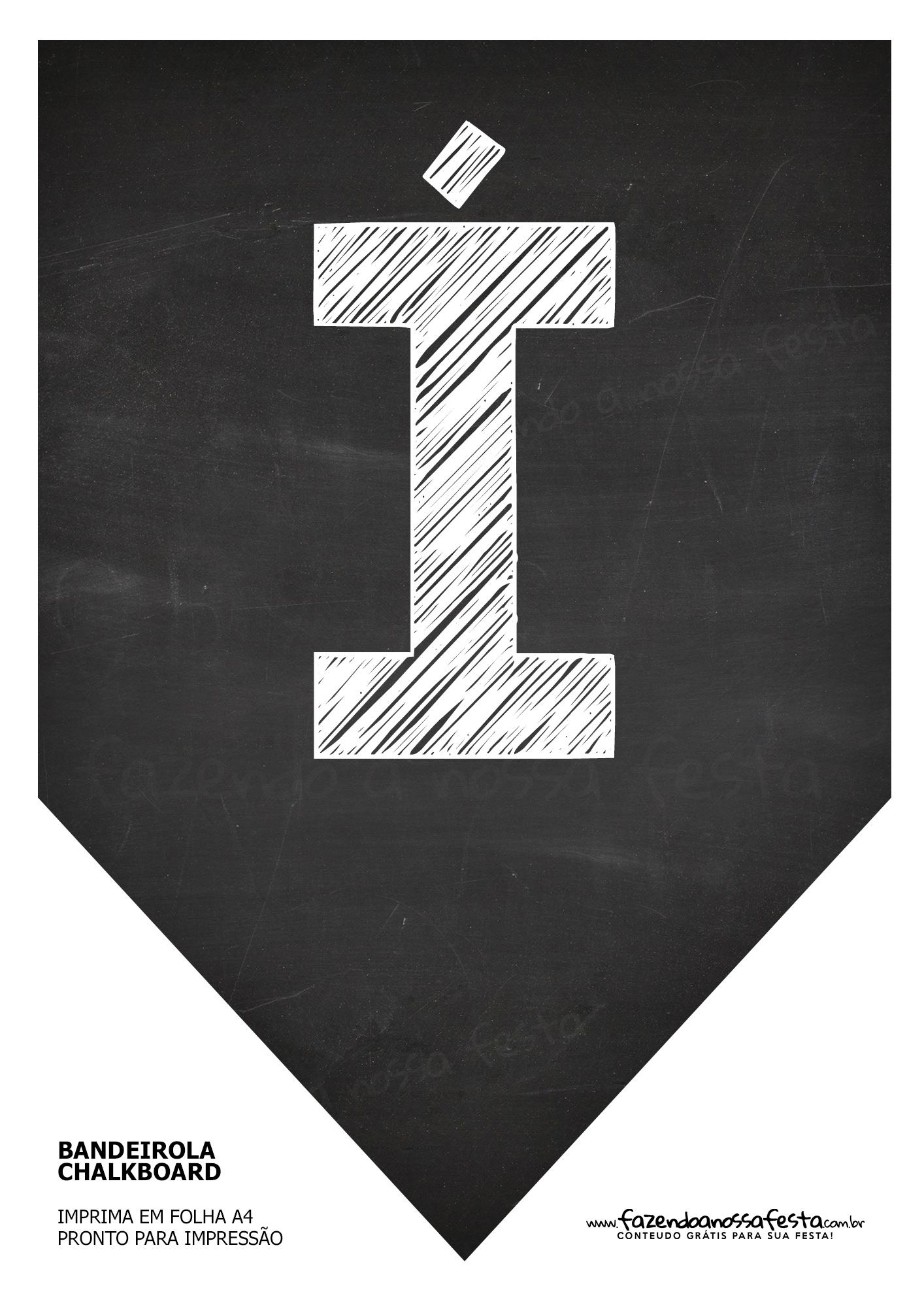 Bandeirinha Chalkboard í