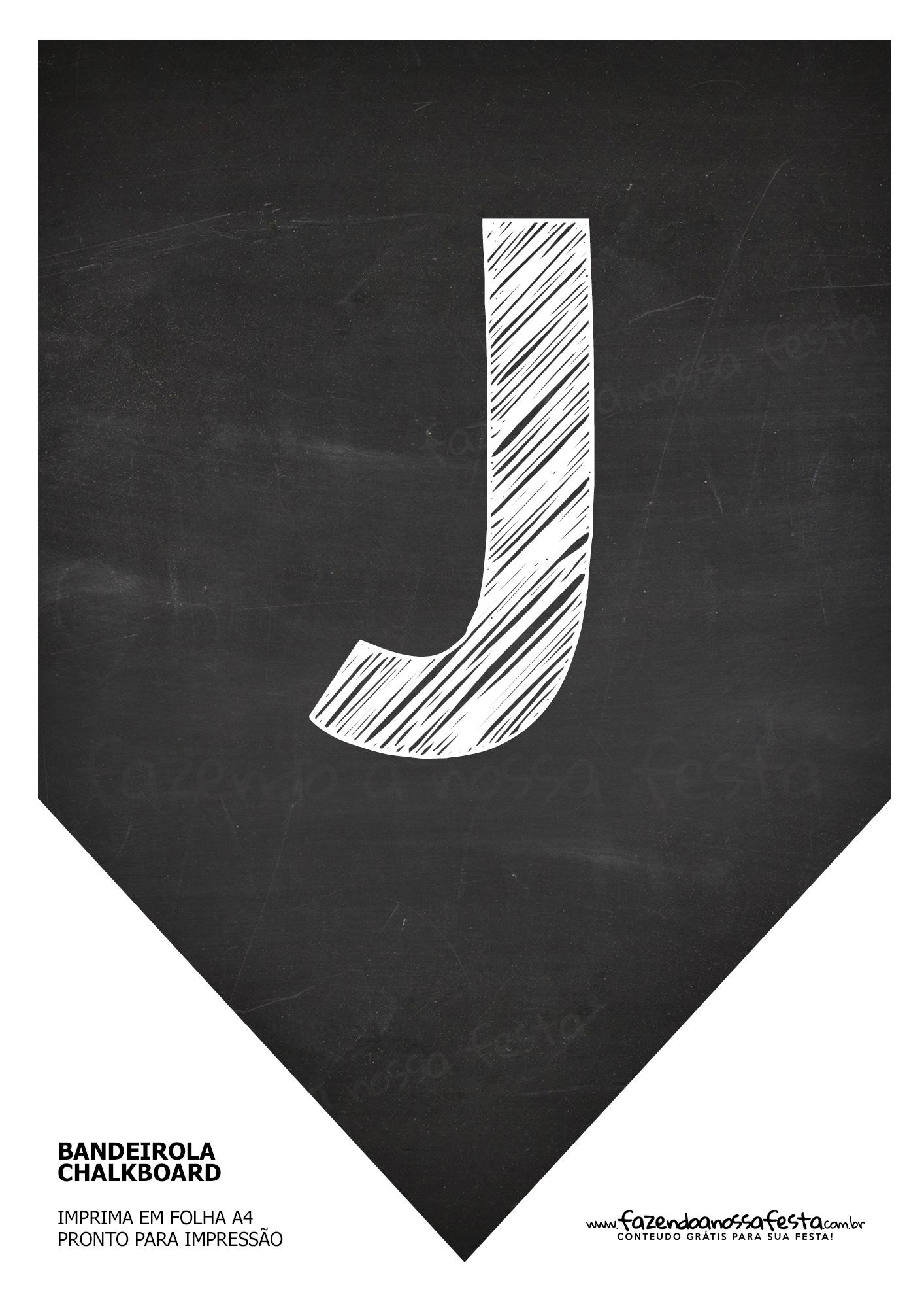 Bandeirinha Chalkboard J