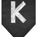 Bandeirinha Chalkboard K