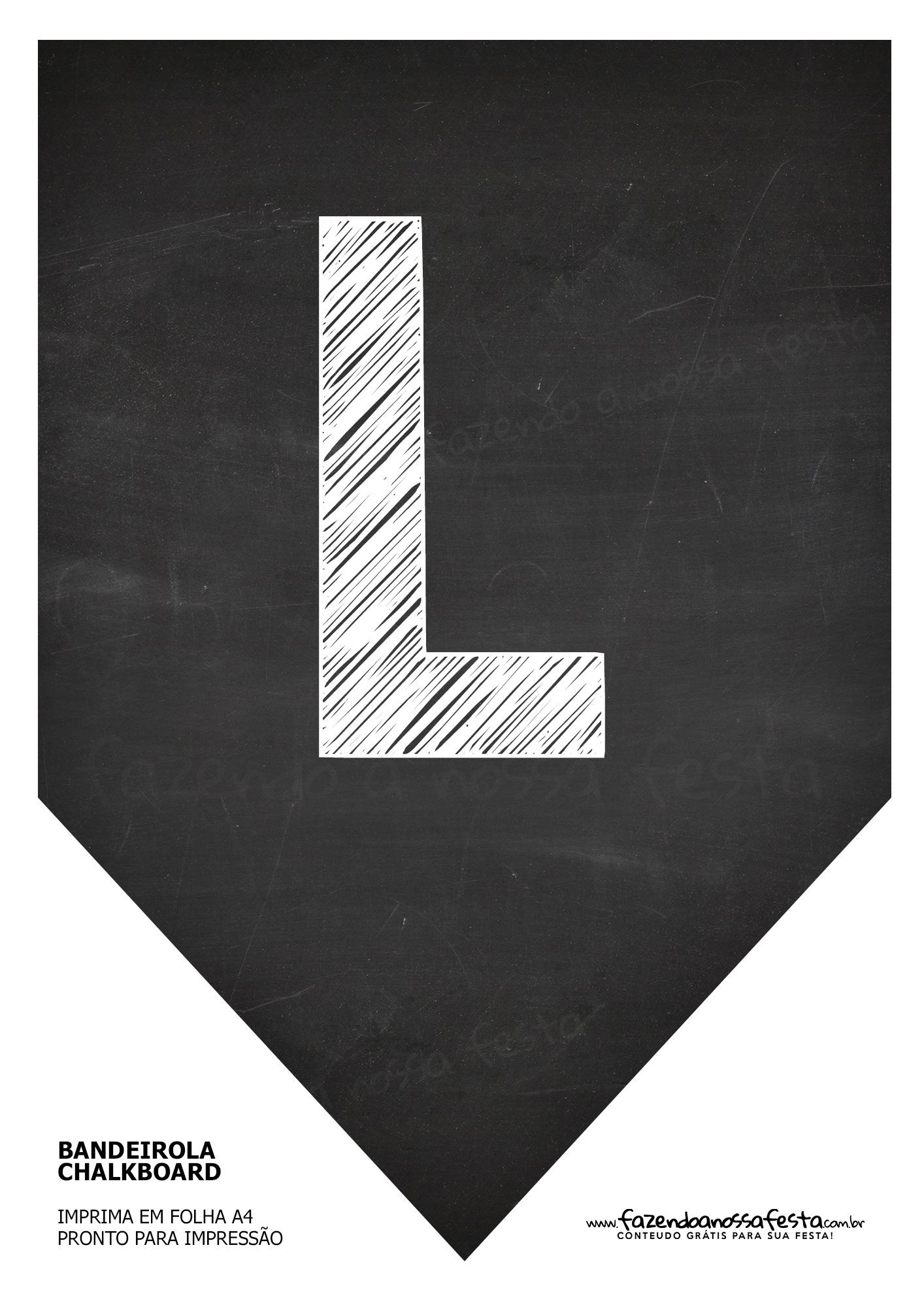 Bandeirinha Chalkboard L