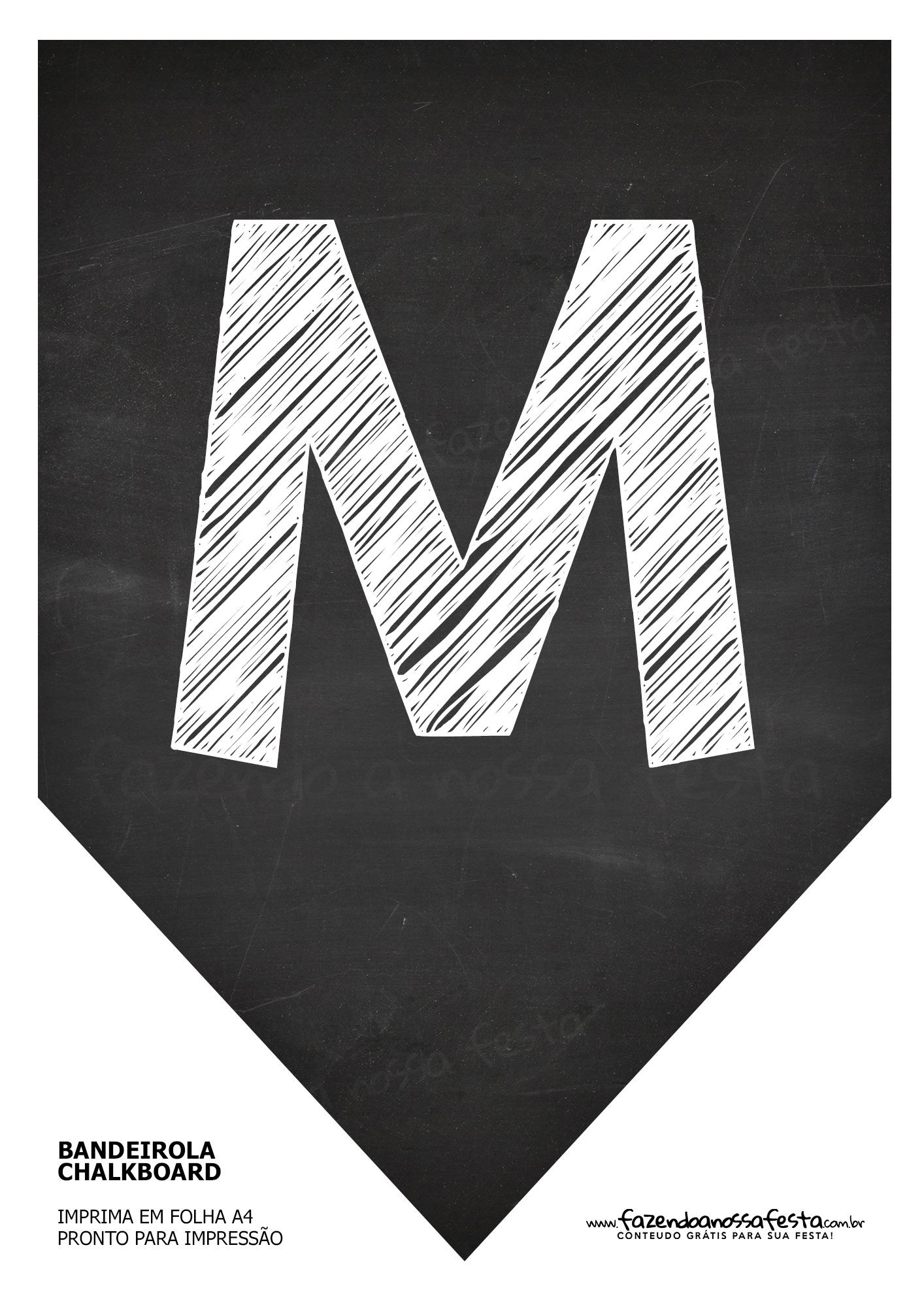 Bandeirinha Chalkboard M