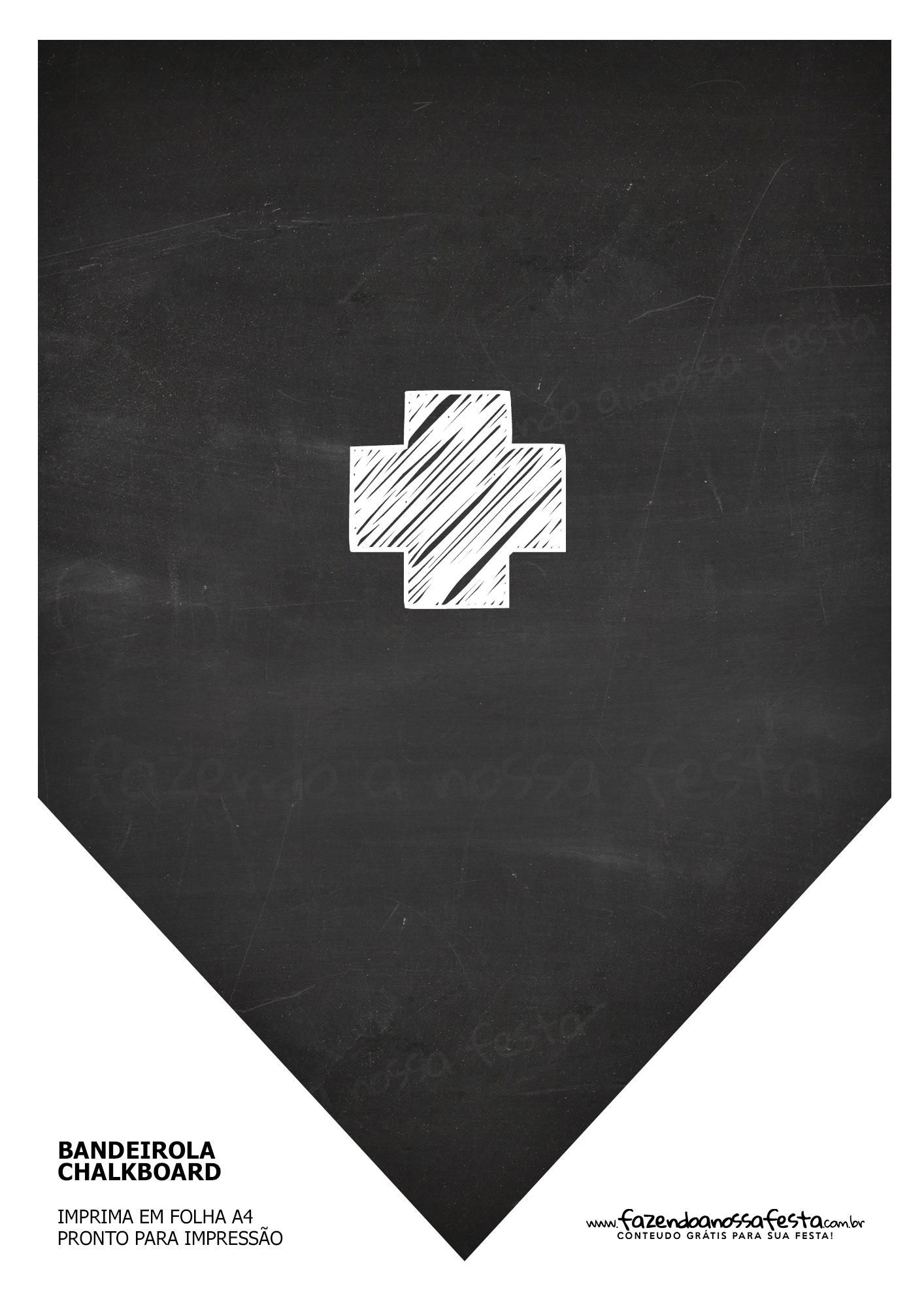Bandeirinha Chalkboard Mais