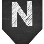 Bandeirinha Chalkboard N