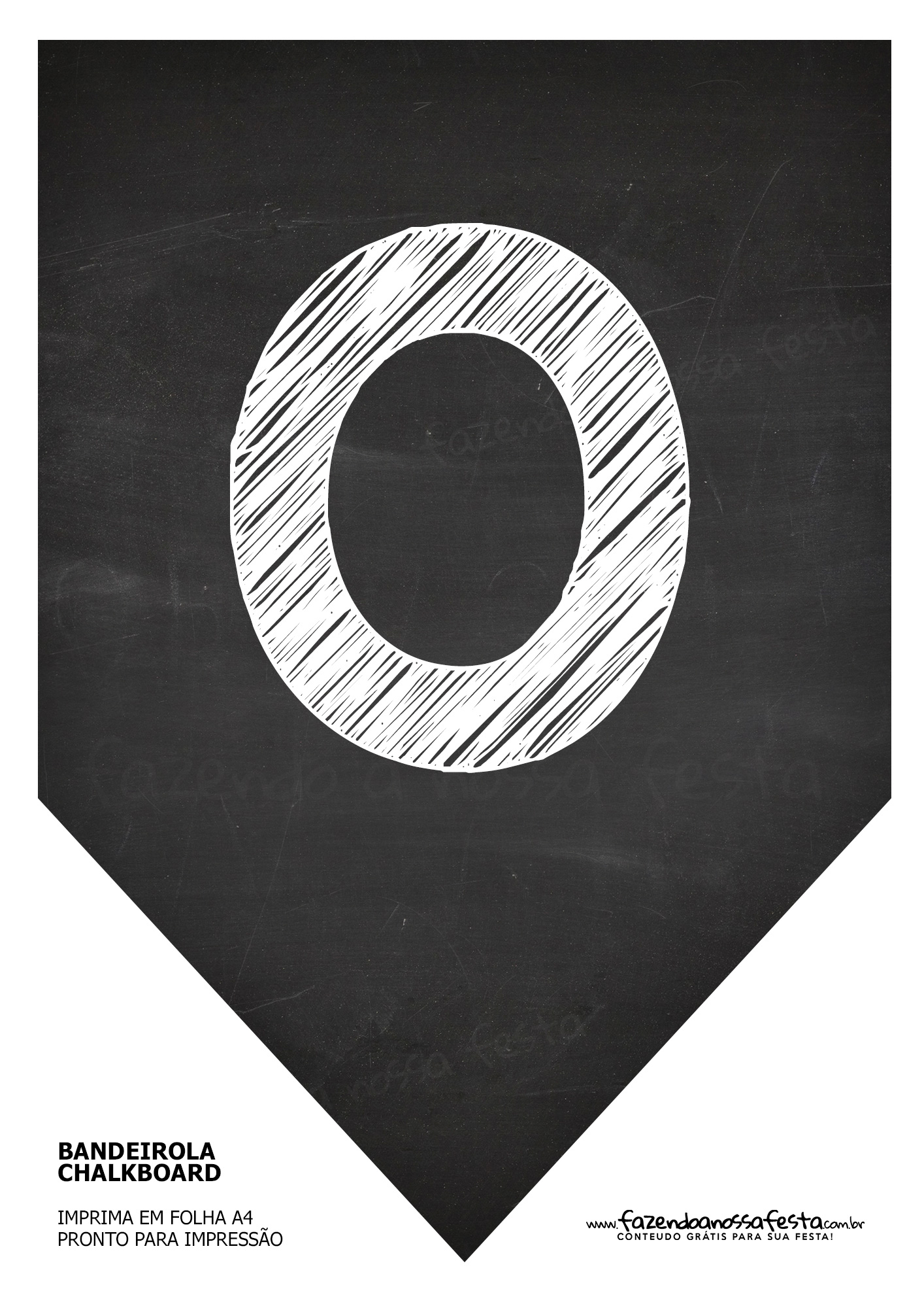 Bandeirinha Chalkboard O
