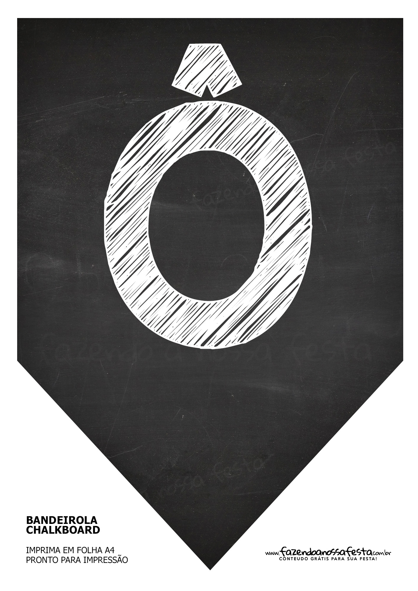 Bandeirinha Chalkboard ô