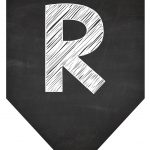 Bandeirinha Chalkboard R