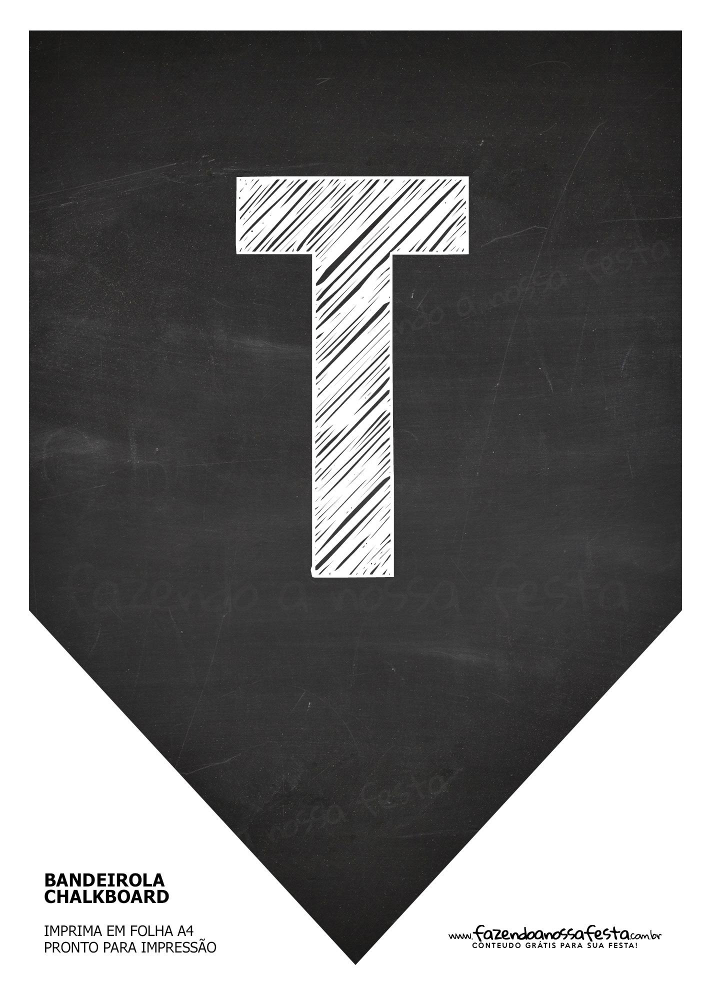 Bandeirinha Chalkboard T