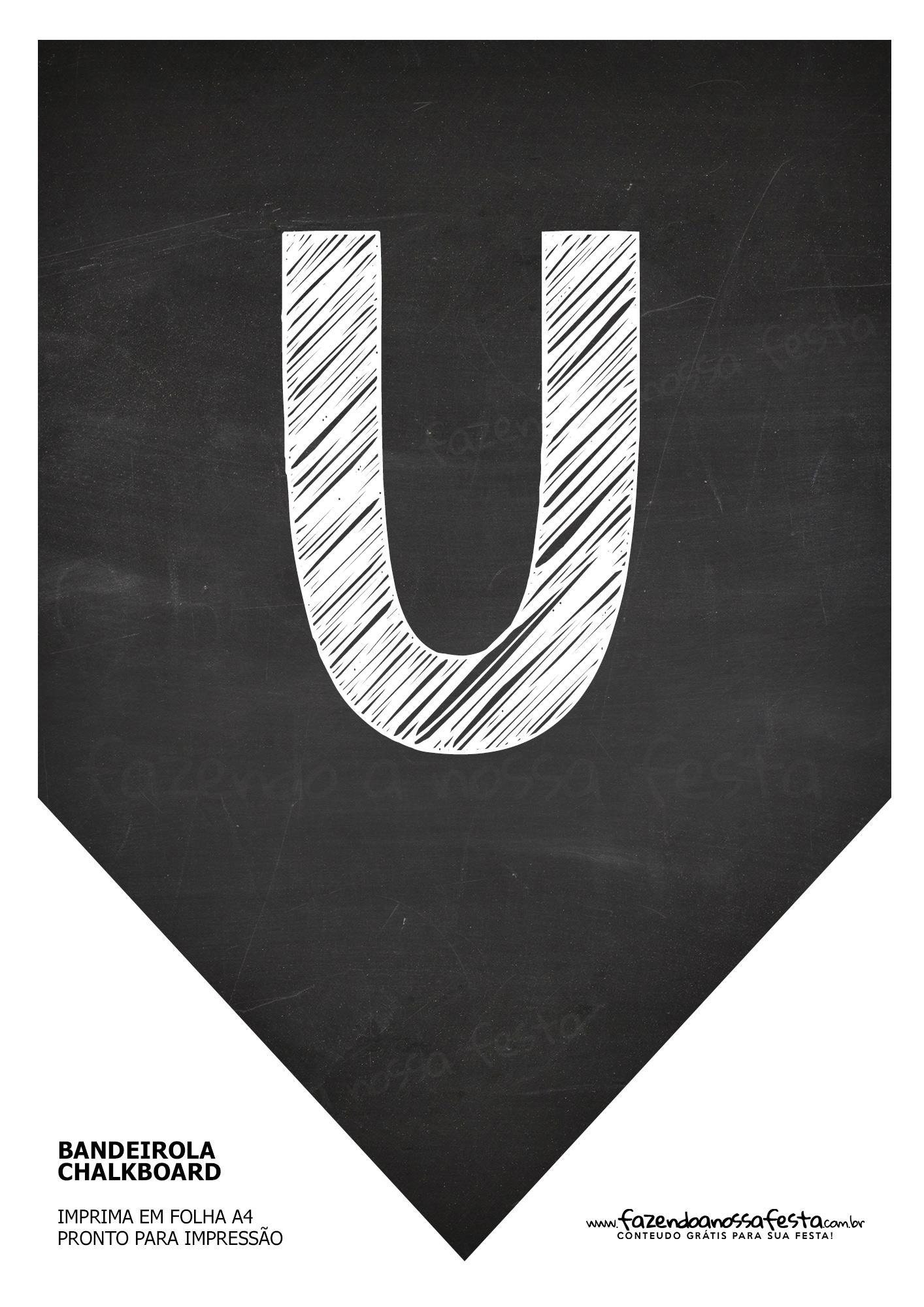 Bandeirinha Chalkboard U