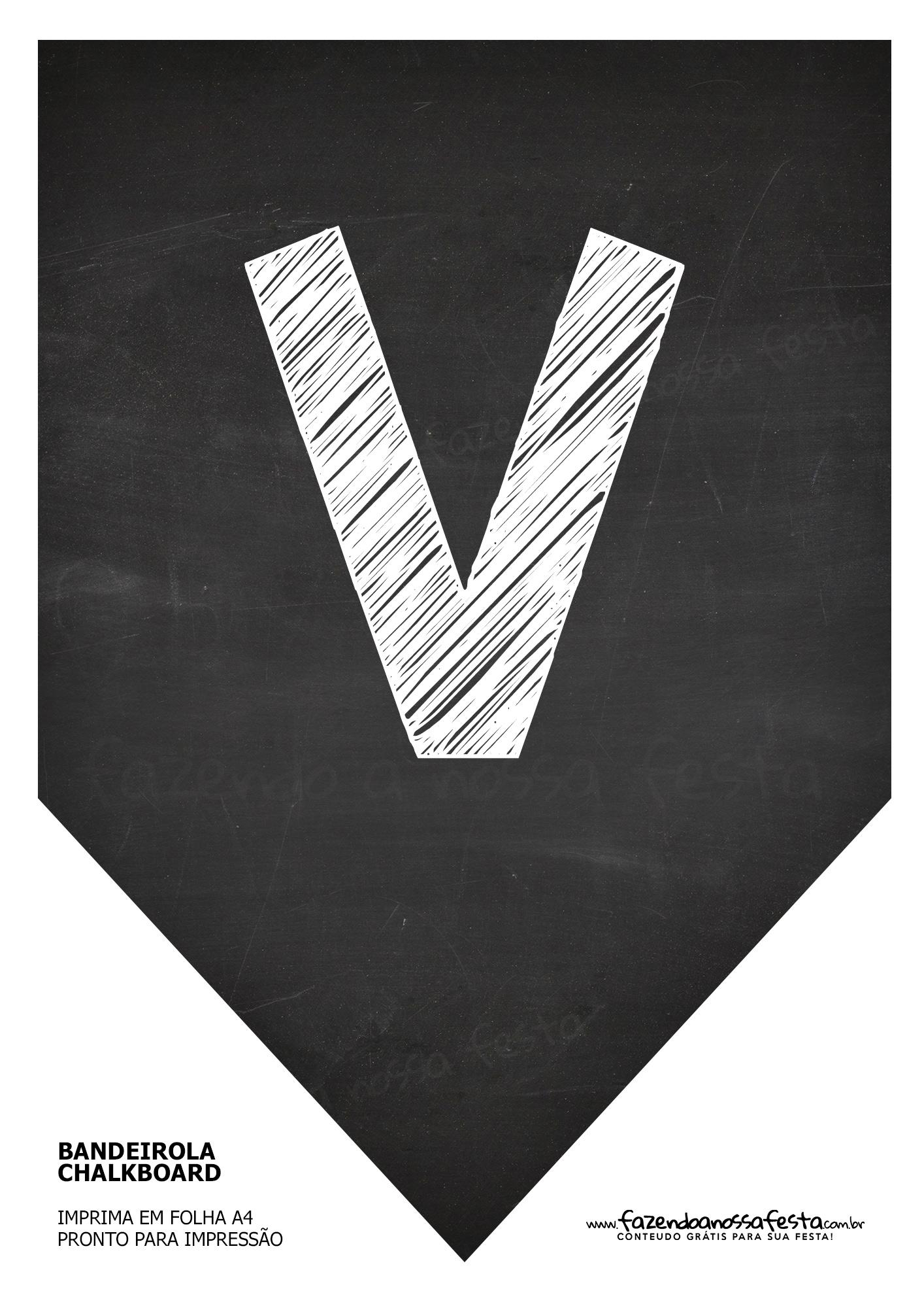 Bandeirinha Chalkboard V