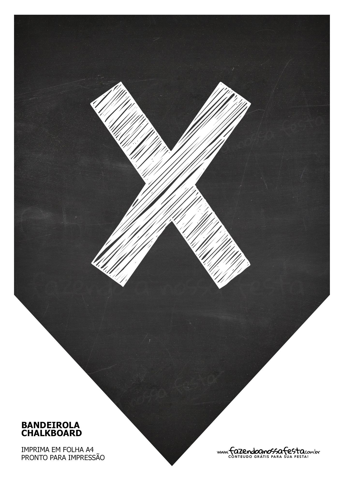 Bandeirinha Chalkboard X