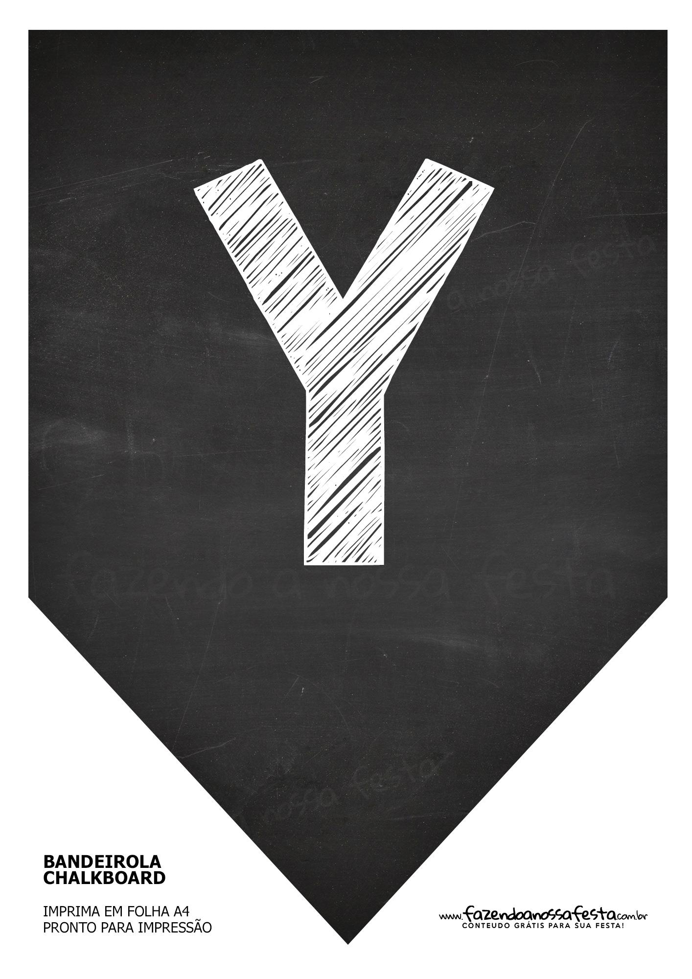 Bandeirinha Chalkboard Y