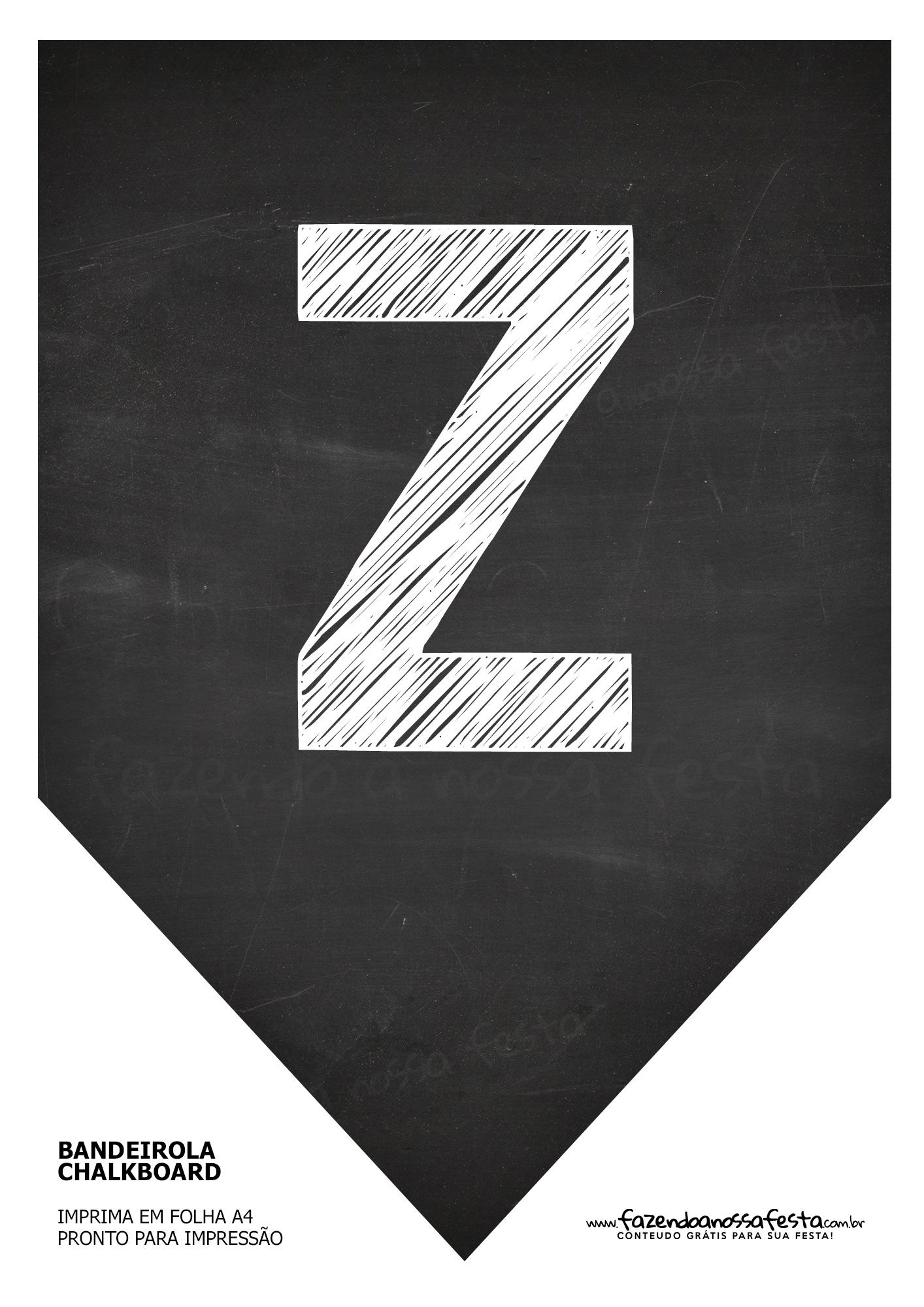 Bandeirinha Chalkboard Z
