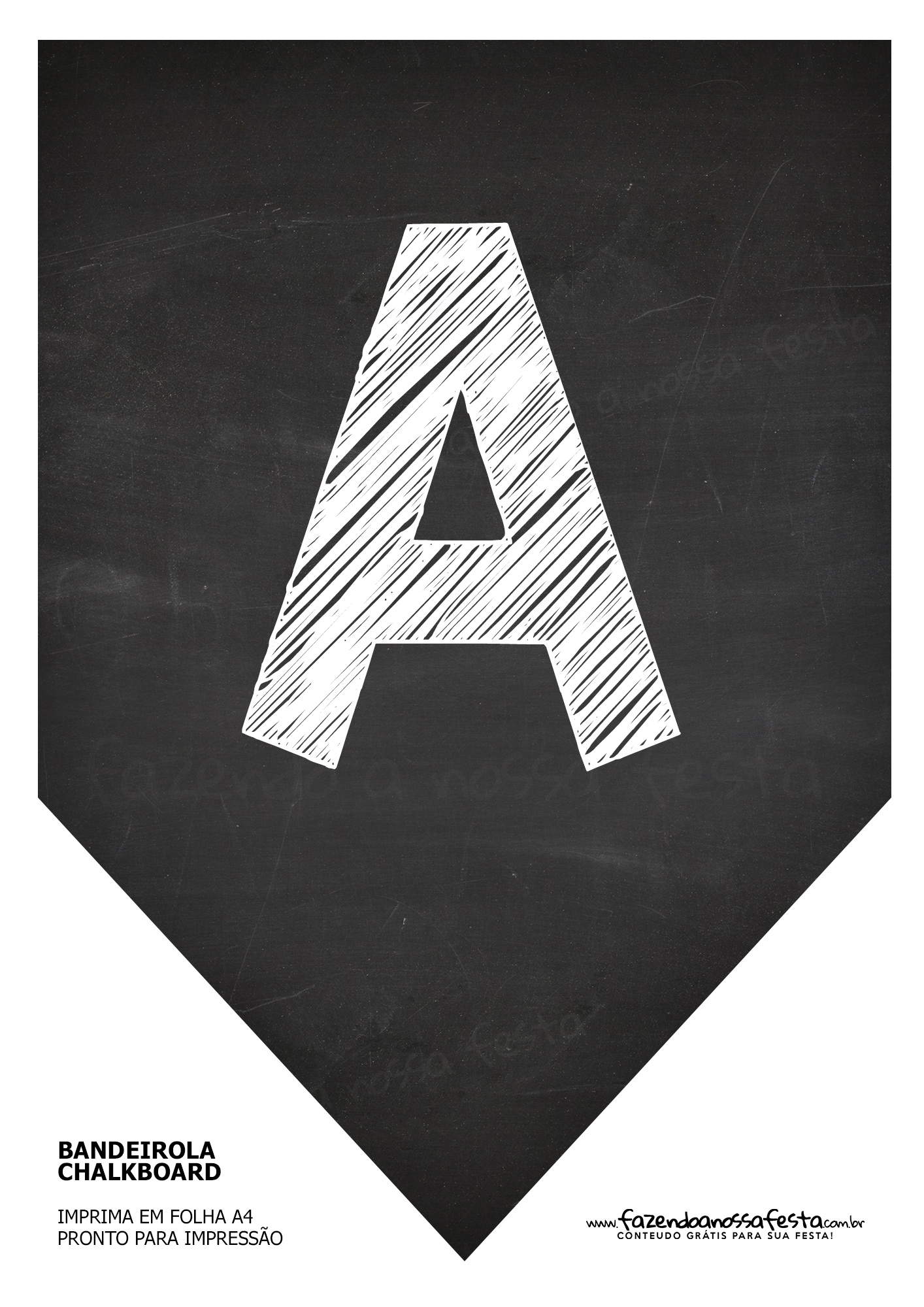 Bandeirola Chalkboard A