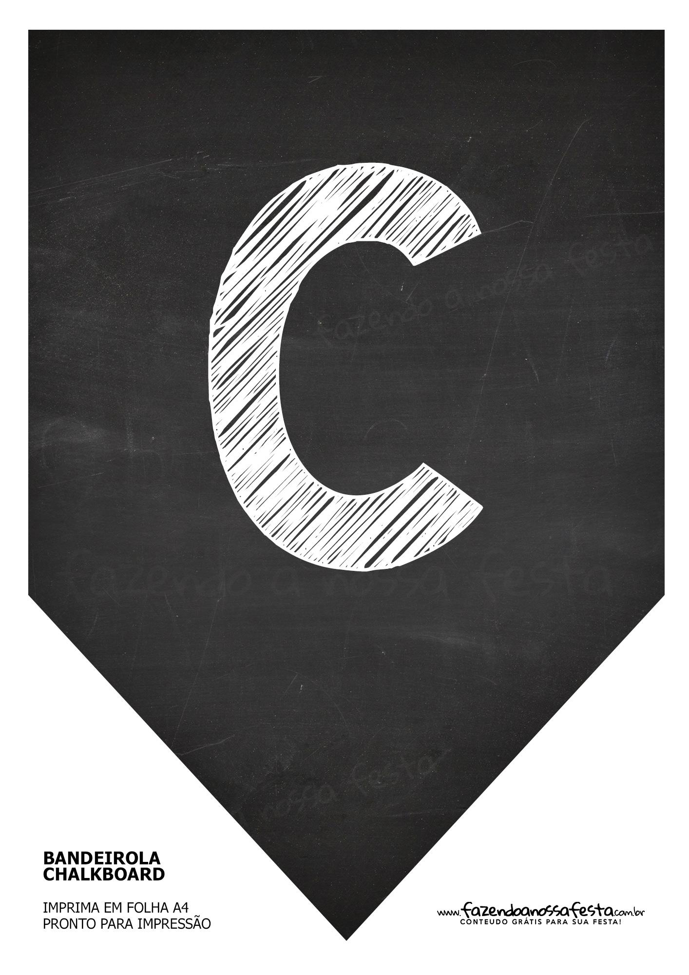 Bandeirola Chalkboard C
