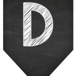 Bandeirola Chalkboard D