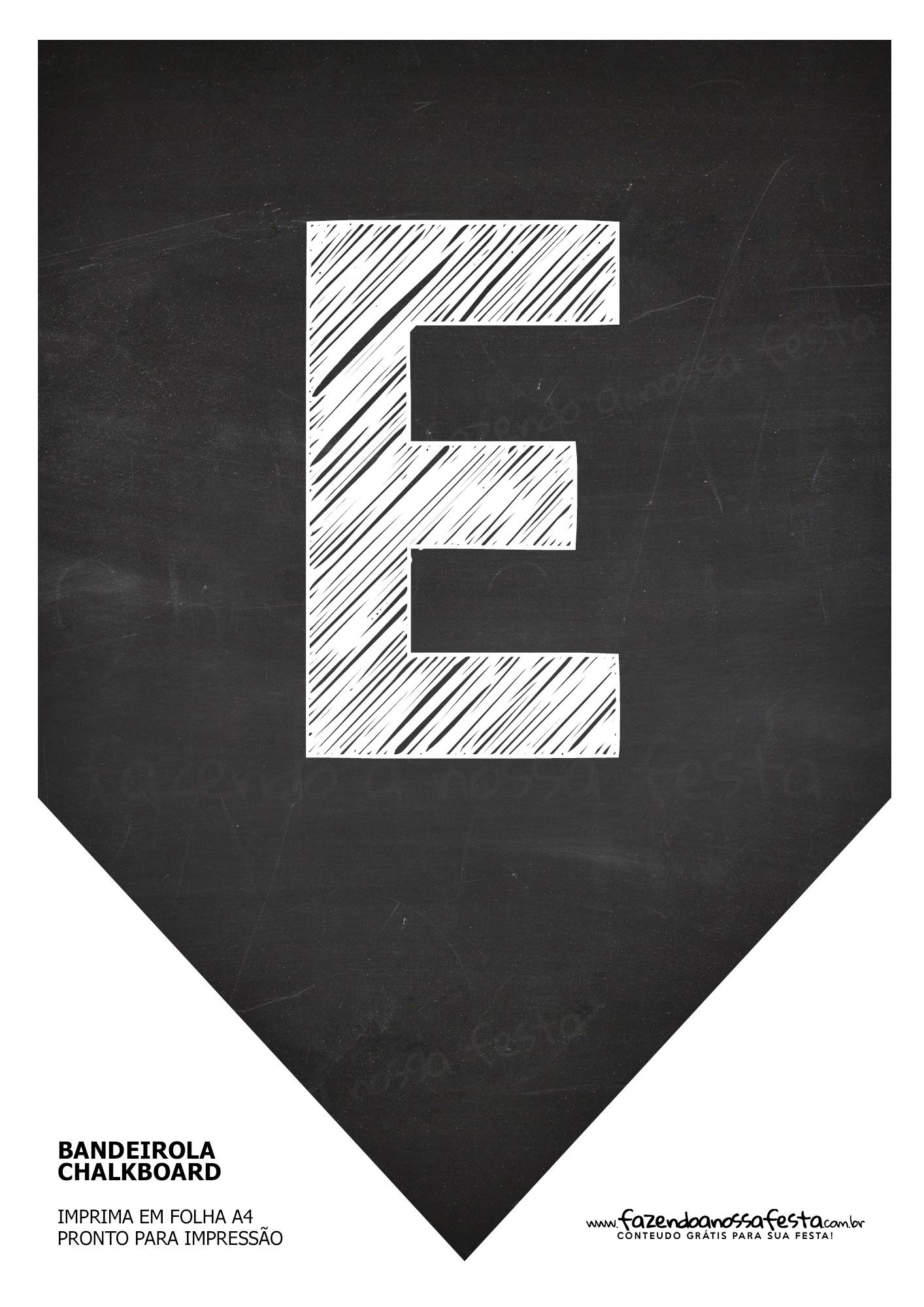 Bandeirola Chalkboard E