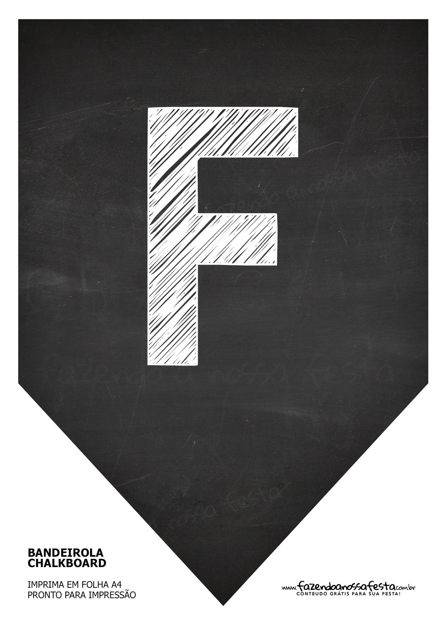 Bandeirola Chalkboard F