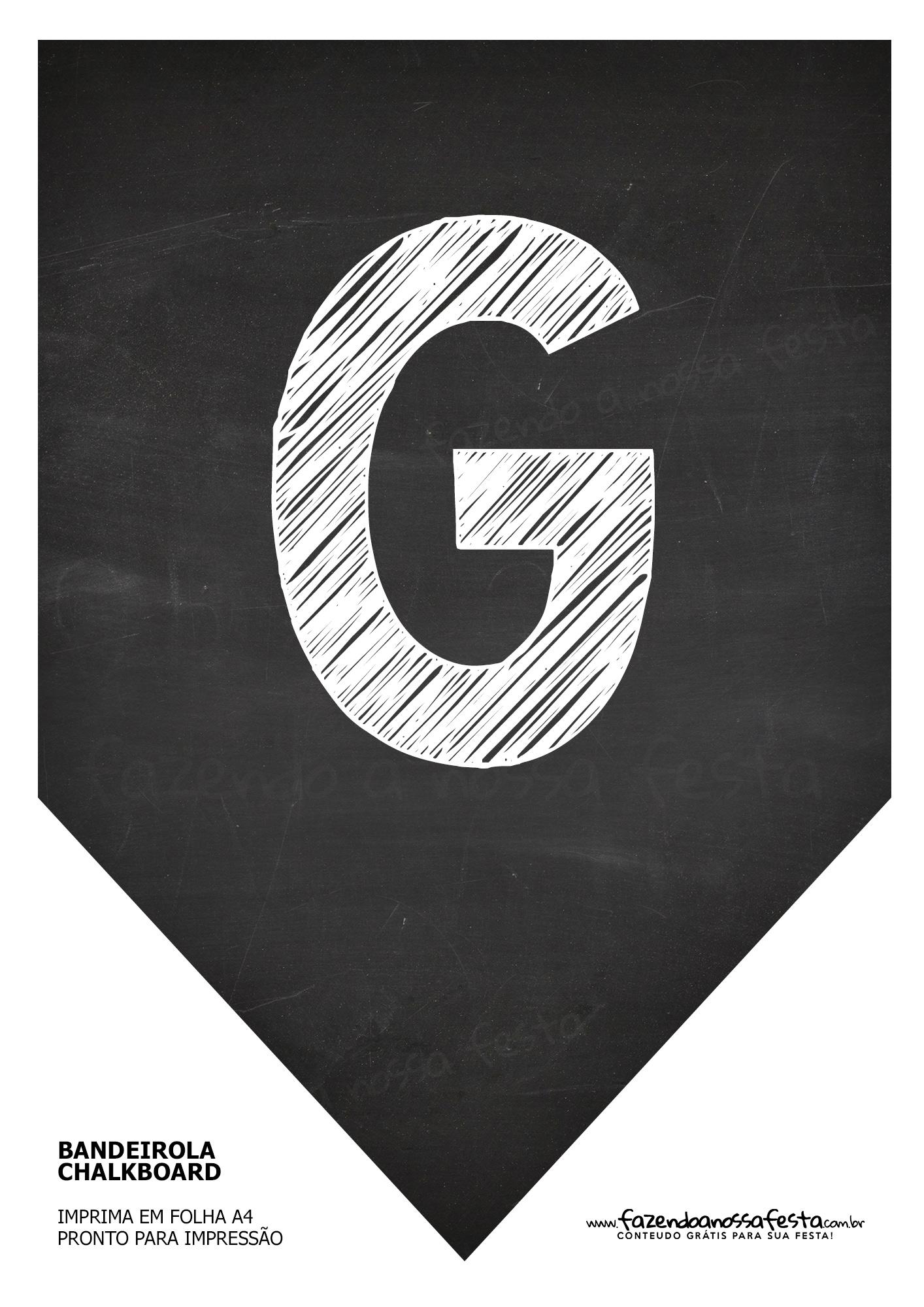 Bandeirolas Chalkboard G