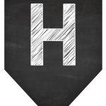 Bandeirola Chalkboard H