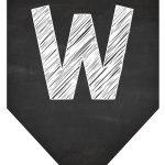 Bandeirinha Chalkboard W