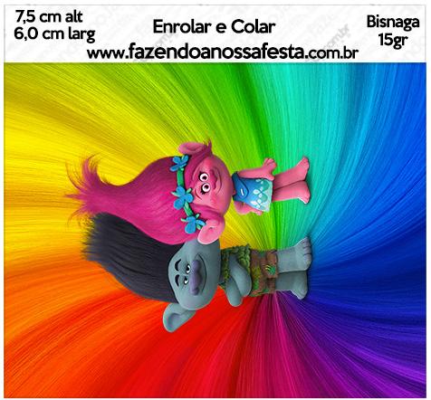 Bisnaga Brigadeiro 15gr Trolls Kit Festa