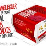 Caixa Hambúrguer Dia dos Namorados Grátis para Imprimir