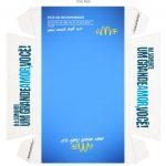 Caixa Hambúrguer para Dia dos Namorados Azul Verso