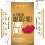 Caixa Hambúrguer Dia dos Namorados Dourada