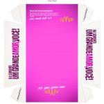 Caixa Hambúrguer Dia dos Namorados Rosa Verso