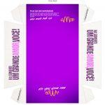 Caixa Hambúrguer para Dia dos Namorados Roxa Verso
