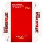 Caixa Hambúrguer para Dia dos Namorados Vermelho Verso