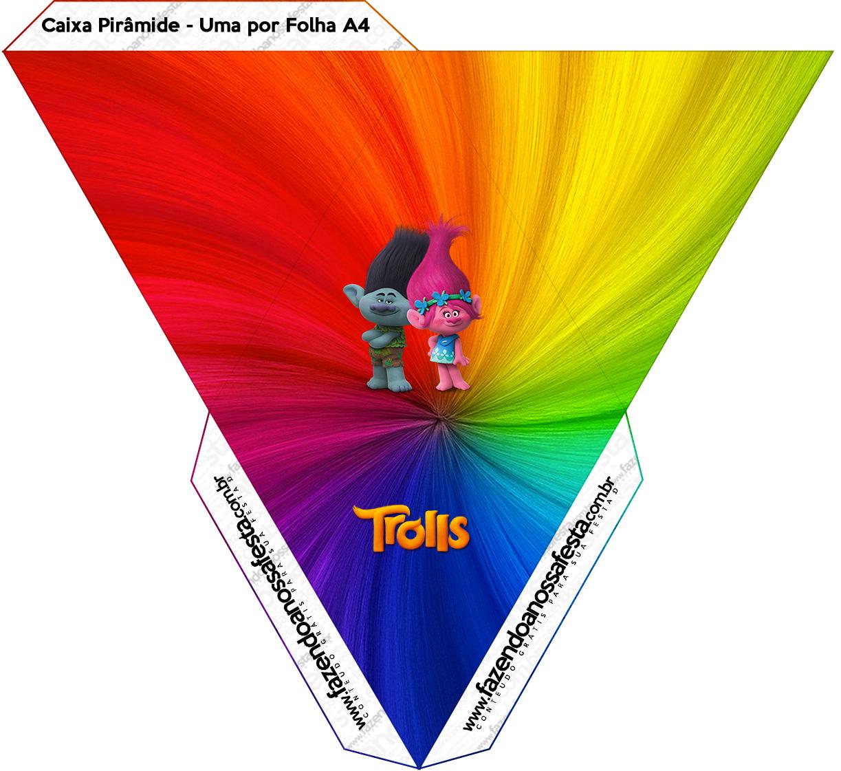 Caixa Piramide Trolls