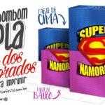Caixa Super Namorados Grátis para Imprimir