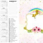 Calendario 2017 2 Unicórnio