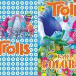 Capa 2 Livrinho de Colorir Trolls