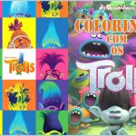 Capa Livrinho de Colorir Trolls