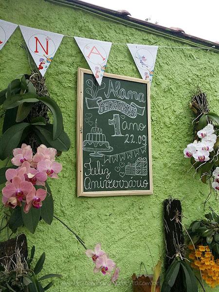 Chalkboard Festa Palavra Cantada da Alana