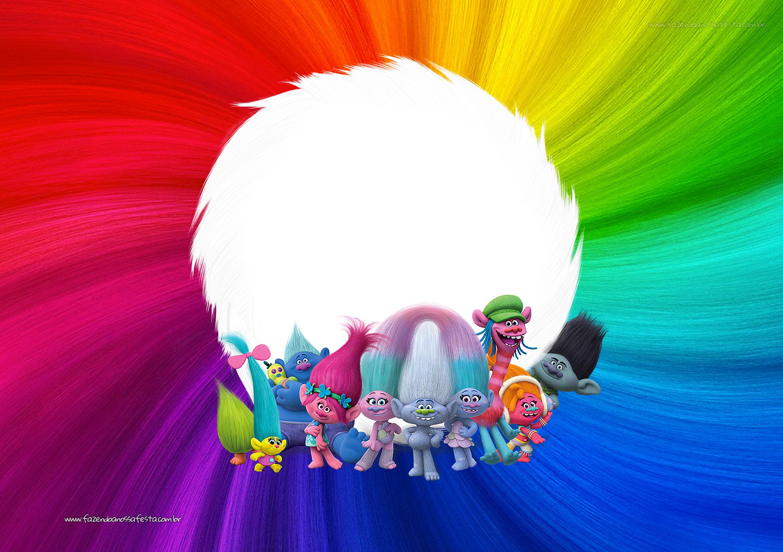 Convite Festa Infantil Trolls
