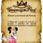 Convite Pergaminho Minnie Princesa Rosa 2