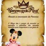 Convite Pergaminho Minnie Princesa Vermelho 2