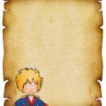 Convite Pergaminho Pequeno Príncipe 1