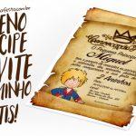 Convite Pergaminho Pequeno Príncipe Grátis para Imprimir