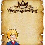 Convite Pergaminho Pequeno Príncipe 2