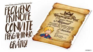 Convite Pergaminho Pequeno Príncipe