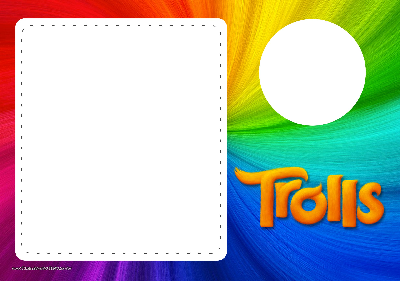 Convite com Foto Trolls
