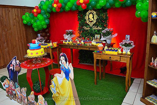 Decoração Festa Branca de Neve da Maria Valentina