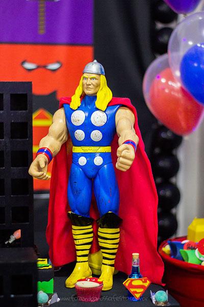 Decoração Festa Super-Heróis do Heitor