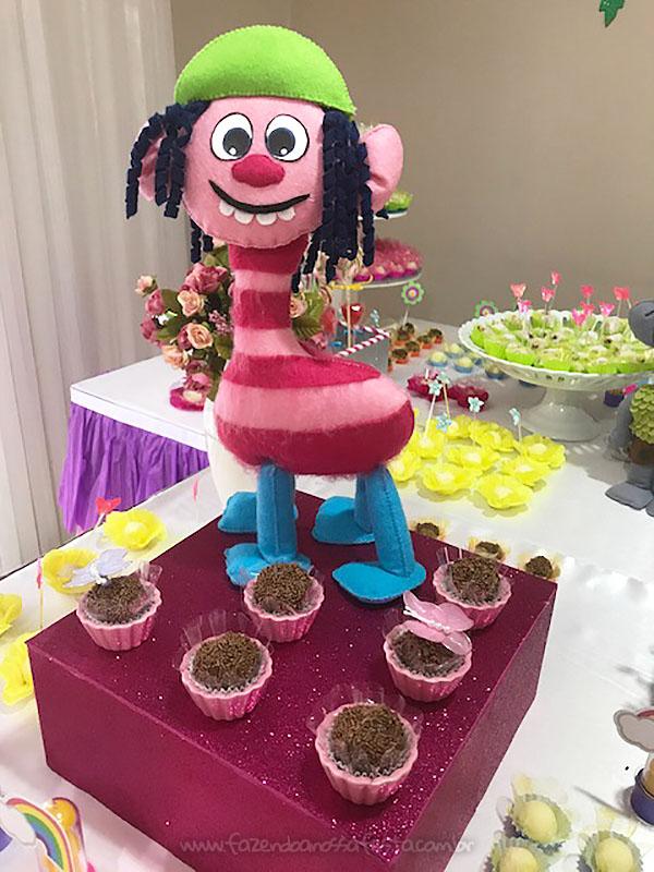 Doces Festa Trolls da Raquel