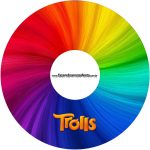 Etiqueta CD DVD Trolls