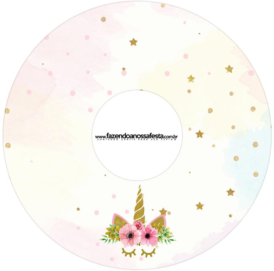 Etiqueta CD DVD Unicórnio